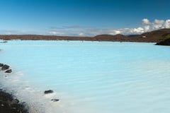 Lagune bleue en Islande Images stock