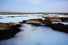 Lagune bleue, Islande Images stock