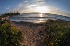 Lagune confortable au coucher du soleil photos libres de droits