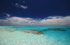 Lagune d'îles Cook Images stock
