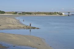 Lagune d'Aveiro Photographie stock libre de droits