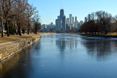 Lagune d'hiver Photographie stock libre de droits