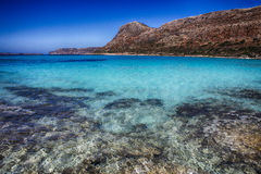 Lagune de Balos Photo stock