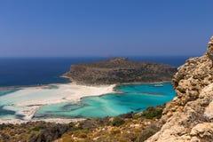 Lagune de Balos sur Crète Photos stock