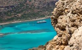 Lagune de Balos sur Crète Photographie stock