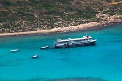 Lagune de Balos sur Crète Image libre de droits
