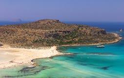Lagune de Balos sur Crète Photos libres de droits