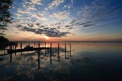 lagune de bibione Photos libres de droits
