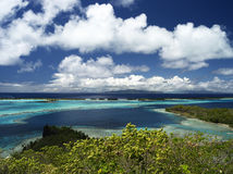 Lagune de Bora Bora Photographie stock libre de droits