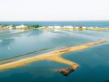 Lagune de Budaki, Shabolat Soi-disant «Ukrainien Mesopotamia» Image stock
