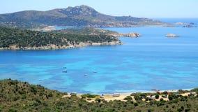 Lagune de capo Malfatano en Sardaigne, Italie image libre de droits