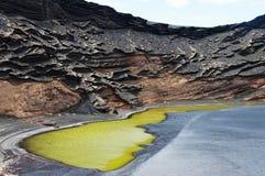 Lagune de Clicos, Lanzarote Photo libre de droits