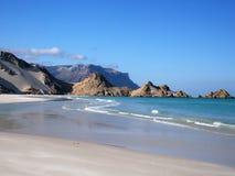 Lagune de Detwah, île d'île de Socotra, Yémen Photographie stock libre de droits