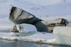 Lagune de glacier de Jokulsarlon Photographie stock