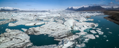 Lagune de glacier en Islande Images libres de droits