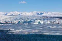 Lagune de Jakulsarlon dans la saison Islande d'hiver Photographie stock