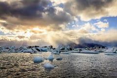 Lagune de Jokulsarlon Photographie stock libre de droits