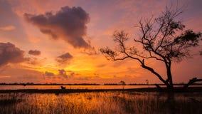 Lagune de Kukud en Thaïlande Image libre de droits