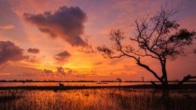 Lagune de Kukud en Thaïlande Photos libres de droits