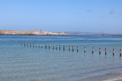Lagune de Langebaan, le Cap-Occidental, Afrique du Sud Image libre de droits