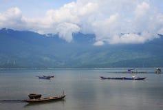 Lagune de Lap An, ville de Lang Co, Hue, Vietnam photographie stock