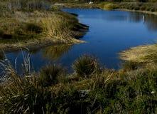 Lagune de Malibu la Californie à la marée haute Photos stock