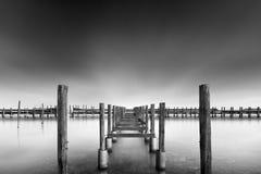 Lagune de Missolonghi avec le pilier Image stock