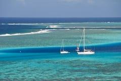 Lagune de pétillement dans le South Pacific, Moorea Photos stock