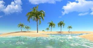 Lagune de paradis illustration stock