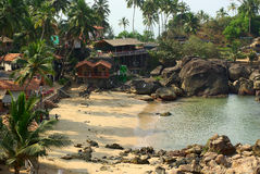 Lagune de plage de Palolem, Goa. Photos stock