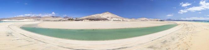 Lagune de Sotavento, Fuerteventura images stock