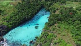 Lagune de Weekuri, île de Sumba, Indonésie banque de vidéos