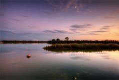 Lagune des Belvedere Italien Stockbild