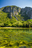 Lagune dichtbij Olympus, Turkije Royalty-vrije Stock Afbeelding
