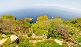 Lagune durch die Halbinsel Lizenzfreie Stockfotografie