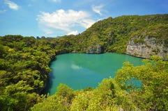 Lagune en île au stationnement national d'île de lanière d'ANG Image libre de droits