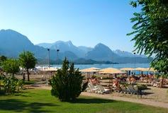 Lagune et plage dans la région d'Antalya Photographie stock