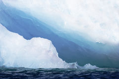 Lagune, glace et mer de glacier de Jokusarlon Photos stock
