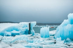 Lagune glaciaire de Jokulsarlon, Islande Images libres de droits