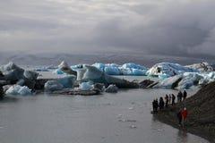 Lagune glaciaire de Jorkulsarlon, Islande image libre de droits