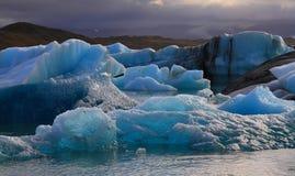Lagune glaciaire de Jorkulsarlon, Islande photographie stock