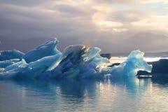 Lagune glaciaire de Jorkulsarlon, Islande photo libre de droits