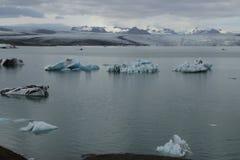 Lagune Islande de glace, août 2017 Images libres de droits