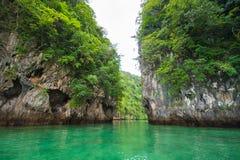 Lagune Koh Hong, Krabi, Thailand Stock Foto's