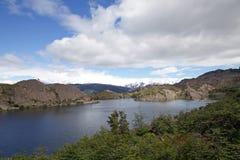 Lagune Los Patos am Nationalpark Torres Del Paine, Magallanes-Region, Süd-Chile Stockfoto