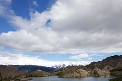 Lagune Los Patos am Nationalpark Torres Del Paine, Magallanes-Region, Süd-Chile Lizenzfreie Stockfotos