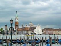 Lagune nuageuse de Venise Images stock