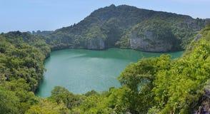 Lagune op het eiland in Thailand Royalty-vrije Stock Afbeeldingen