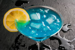 Lagune ou bleu bleue Curaçao photographie stock libre de droits
