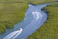 Lagune Quintana Roo i Cancun, Mexico Arkivbilder